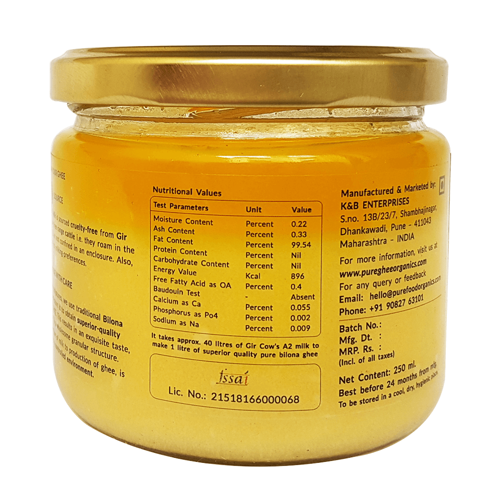 Gir Cow's A2 Ghee - 250ml
